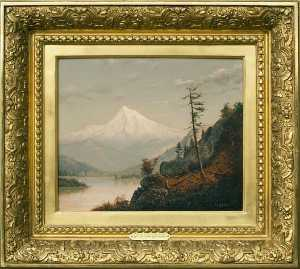 William Samuel Parrott - Mt . Kapuze , Columbia Fluss , ( malen )