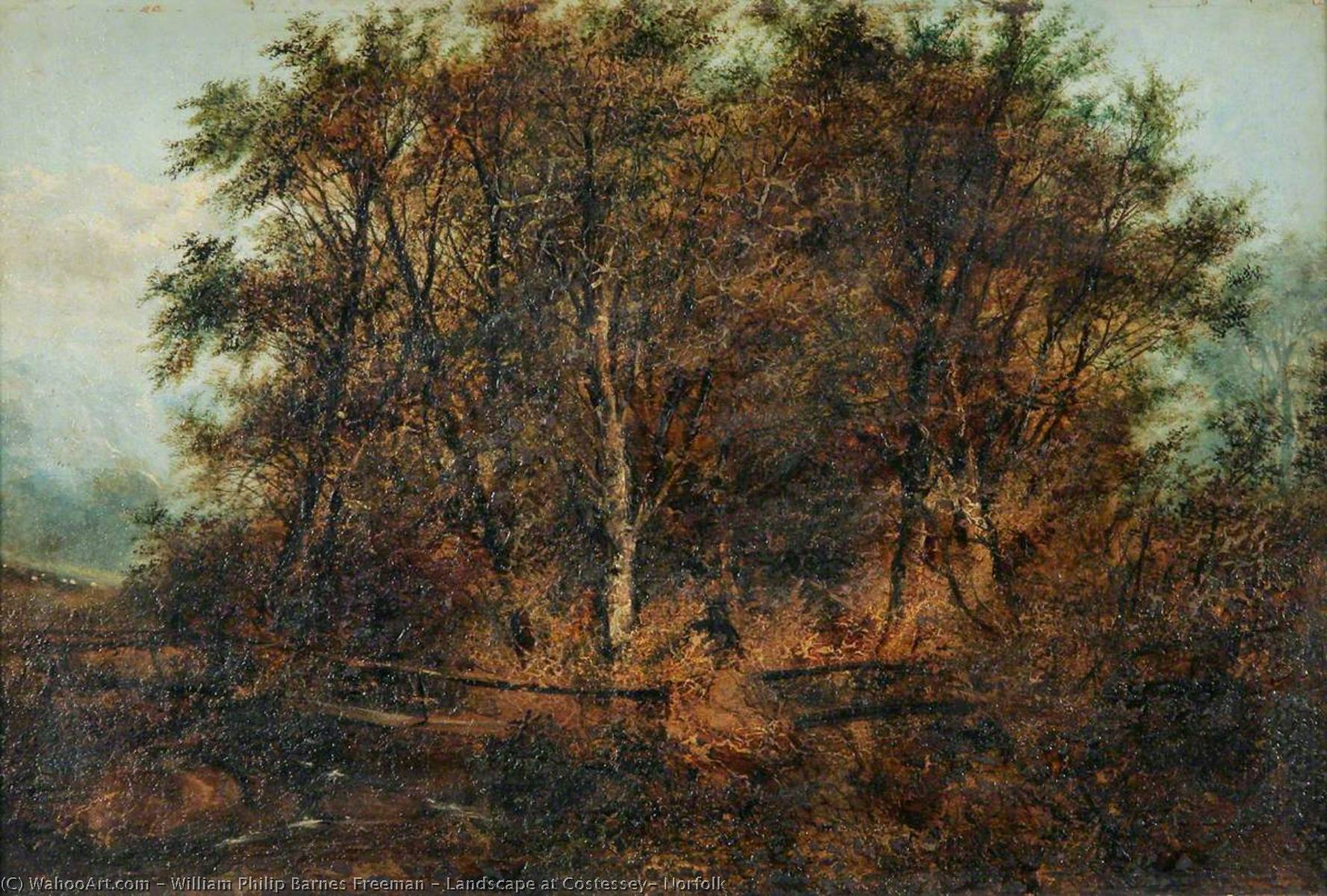 Landschaft bei Costessey , Norfolk, öl von William Philip Barnes Freeman