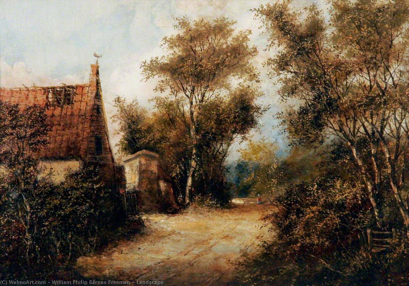 Landschaft ein von William Philip Barnes Freeman | Malerei Kopie | WahooArt.com