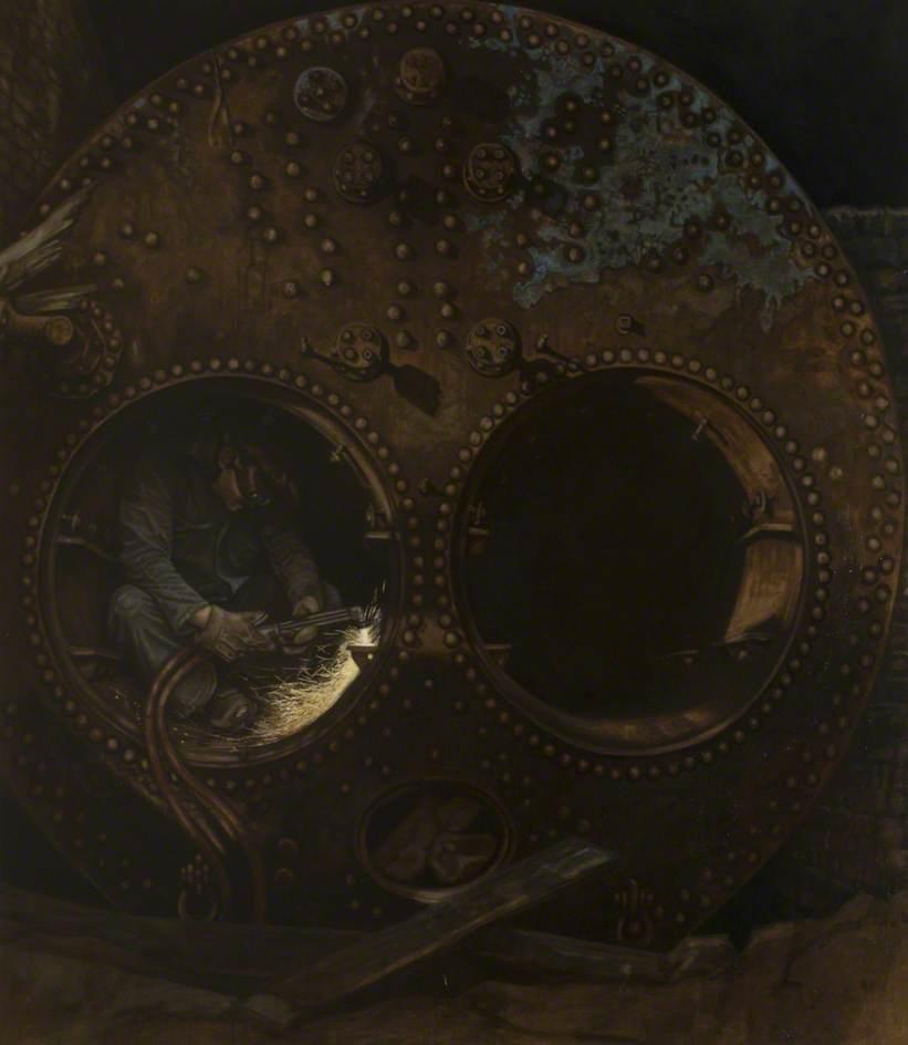 Brechen von einem Lancaster Dampfkessel, öl von Brian Joseph Fojcik