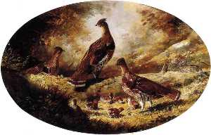 Joachim Ferdinand Richardt - Grouse Familie