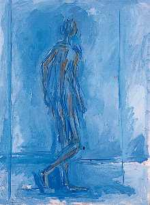 William Turnbull - gehen figur Mann im