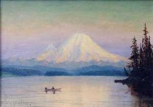 James Everett Stuart - Mt . Regnerischer vom see Washington , ( malen )