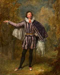 Henry Andrews - Wilhelm pleater davidge als malvolio im 'Twelfth Night' von william shakespeare