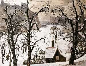 William Crozier - Edinburgh im schnee