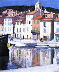 Francis Campbell Boileau Cadell - das harbour , Cassis