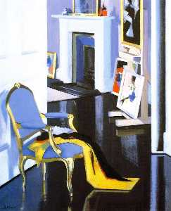 Francis Campbell Boileau Cadell - der gold stuhl