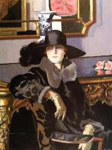 Francis Campbell Boileau Cadell - dame in schwarz