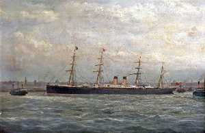 George Parker Greenwood - 'Germanic' in der Mersey